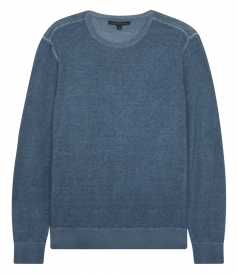 PULLOVERS - COTTON & LINEN BLEND CREWNECK KNITTED  PULLOVER