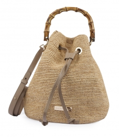 SAVANNAH BAY BAMBOO DUFFLE MINI BAG - NATURAL