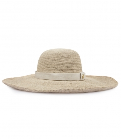 CARLISLE BAY RAFFIA WIDE BRIM HAT
