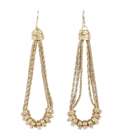 ALHAMBRA GOLD PLATED EARRINGS WITH HOOK FASTENING