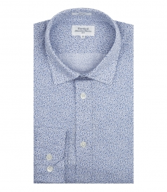 COTTON & LINEN BLEND SAMMY SHIRT WITH FLORAL ALL OVER PRINT