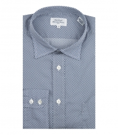 PURE COTTON PAUL LONG SLEEVE MICROPRINTED SHIRT