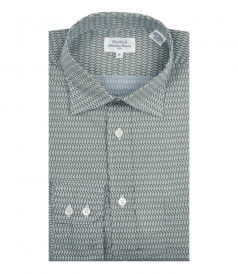 PAUL LONG SLEEVE SHIRT WITH MICROPRINTS