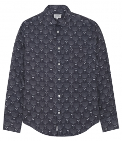 LONG SLEEVE ALL OVER PRINTED PAUL LINEN SHIRT