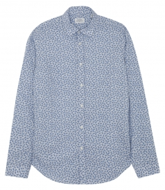 FLORAL MICRO-PRINTED LONG SLEEVE SAMMY SHIRT