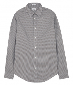 ALL OVER PRINTED LONG SLEEVE COTTON SHIRT