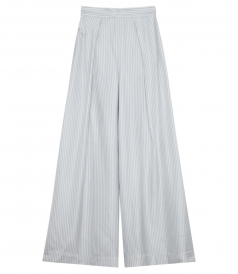 FLARED WITH FRONT KNIFE PLEAT WINSOME PALAZZO PANTS