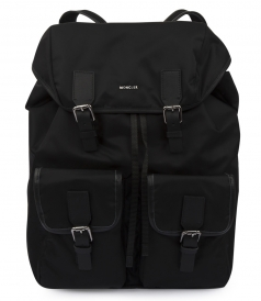 RUFUS ZAINO BACKPACK WITH BLACK LEATHER TRIM
