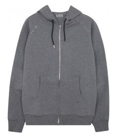 ZIP THROUGH HOODIE WITH STITCH DETAILING