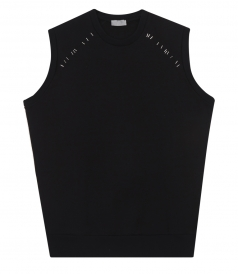 SLEEVELESS SWEATSHIRT WITH STITCH DETAILING