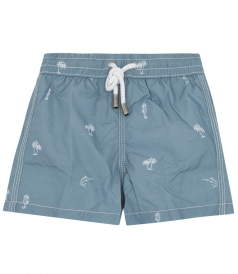 CLOTHES - ACHILLE PRINTED SWIM SHORTS FT ELASTICATED WAISTBAND