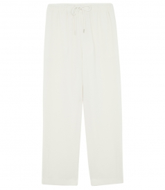 TRACK STAIGHT LEG TROUSERS WITH ELASTICATED WAISTBAND