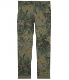 ALL OVER FLORAL PRINTED CARGO TROUSERS