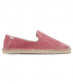WASHED DEEP RED CANVAS SMOKING ESPADRILLE