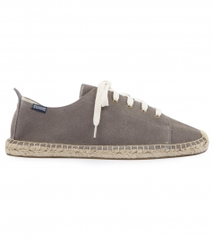 GREY SUEDE LACE UP ESPADRILLE