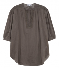 RIVIERA COTTON TUNIC WITH 3/4 SLEEVES