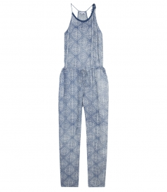 ST MARIA ALL OVER PRINTED JUMPSUIT FT BRAIDED NECK DETAILING