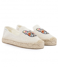 FRENCHIE EMBROIDERED PLATFORM ESPADRILLE