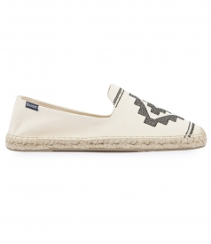 SHOES - YUCUTAN EMBROIDERED SMOKING SLIPPER ESPADRILLE