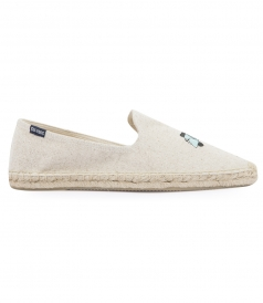 SCOOTER EMBROIDERED SMOKING SLIPPER ESPADRILLE