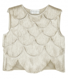 ALL OVER FRINGED SLEEVELESS TOP