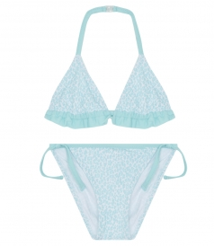 AQUA SAFARI BIKINI WITH TRIANGLE HALTER TOP