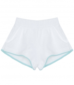 SHORTS - AQUA SAFARI STRETCH TERRY SHORTS FT ELASTICATED WAIST