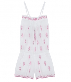 ALL-IN-ONE CUPID EMBROIDERED PLAYSUIT FT ELASTICATED BACK