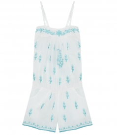ALL-IN-ONE EMBROIDERED WATERBABY PLAYSUIT WITH ELASTICATED BACK