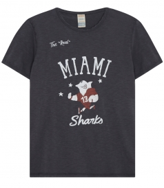 ANY GIVEN SUNDAY UNLIMITED EDITION SHARKS MIAMI PRINTED TEE
