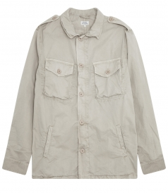 JOSHUA ARMY BUTTON & ZIP FRONT CLOSURE CASUAL JACKET