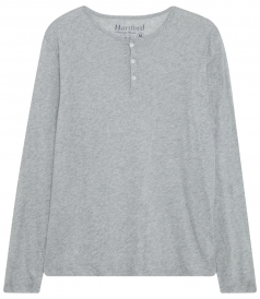 LONG SLEEVE HENLEY IN LIGHTWEIGHT COTTON