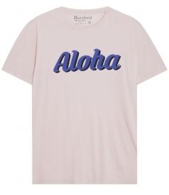 ALOHA PRINTED CREWNECK T-SHIRT IN COTTON