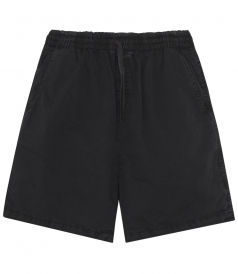 GYM SHORTS IN WASHED COTTON WITH ELASTIC WAISTBAND