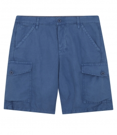 COTTON & LINEN BLEND BORD SHORTS