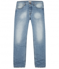 REGULAR 5 POCKET STONE WASHED JEAN