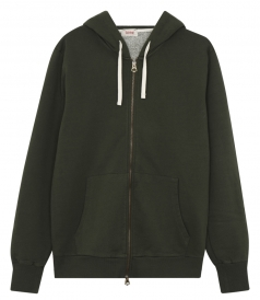 FANCY HOODIE WITH FULL ZIP FRONT CLOSURE