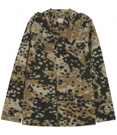 CAMOUFLAGE FIELD JACKET WITH ZIP CLOSURE IN COTTON
