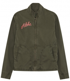 ALOHA FROM HAWAII EMBROIDERED CASUAL HIGH NECK JACKET