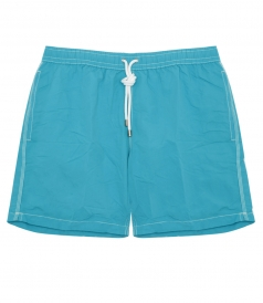 CLOTHES - POCHETTE MID-LENGTH SWIM SHORTS WITH ELASTIC WAISTBAND