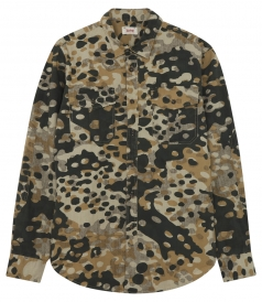 MILITARY PRINTED SHIRT IN COTTON FT 2 CHEST POCKETS