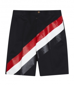 CHINO SHORT IN COTTON WITH SIGNATURE COLOURS STRIPES