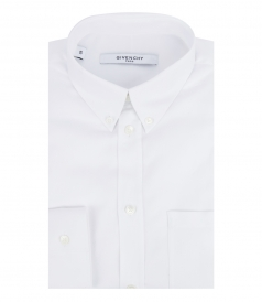 CLASSIC STRAIGHT HEM LONG SLEEVE SHIRT IN COTTON