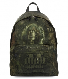 DOLLAR PRINTED BACKPACK IN COTTON BLEND
