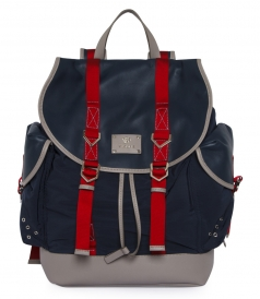 LIGHTWEIGHT LEAP NYLON BACKPACK FT CONTRAST COLOR RIBBONS