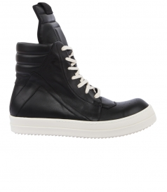 WALRUS LEATHER GEOBASKET HIGH-TOP SNEAKERS FT WHITE LACES