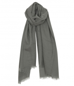 PASHMINA SCARF WITH FRINGED TRIM