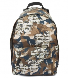 BAGS - MULTICOLORED CAMOUFLAGE PRINTED BACKPACK