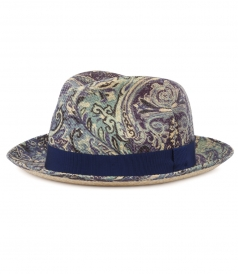 ACCESSORIES - PAISLEY PRINTED PANAMA HAT