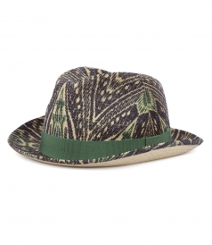MULTICOLORED PRINTED PANAMA HAT
